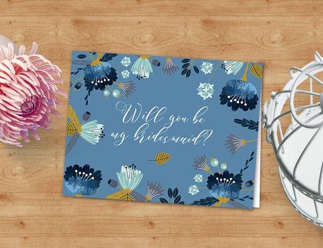 free printable bridesmaid card yes it s free star stream design