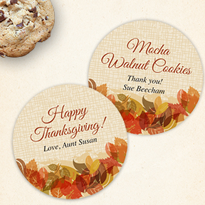 Autumn Leaves Edge Fall Thanksgiving Labels