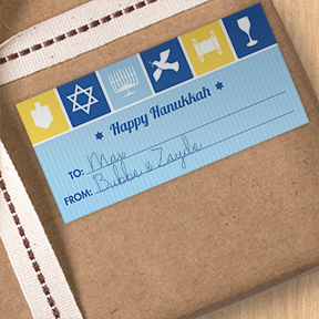 Chanukah Icons gift labels