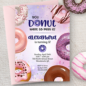 You Donut Want to Miss It Birthday Party Invitation