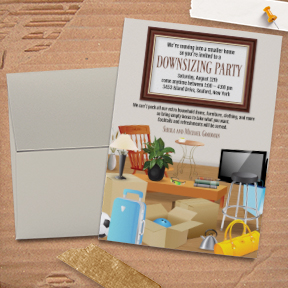 Downsizing Moving Announcement / Housewarming Party Invitation