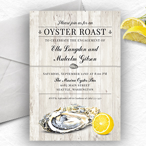 Oyster Roast Seafood Nautical Party Invitations
