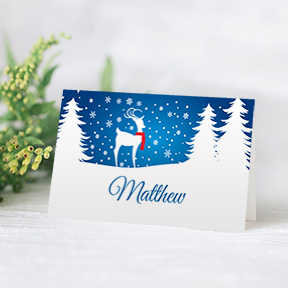 Christmas Reindeer place cards