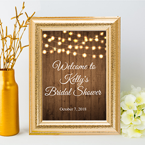 Rustic Sunflowers Welcome to Bridal Shower sign