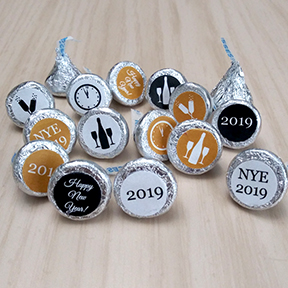 New Years Eve Hershey Kiss labels