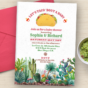 Let's Taco 'Bout a Baby shower invitation