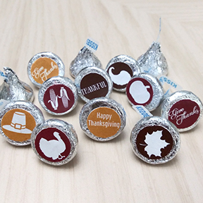 Thanksgiving Icons Hershey Kiss labels