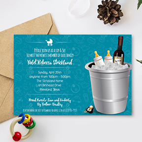 Wine Sip and See baby shower invitation