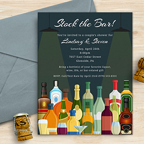 Stock the Bar Party, Shower, Housewarming Invitation